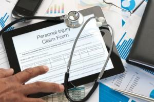 Online injury claim form